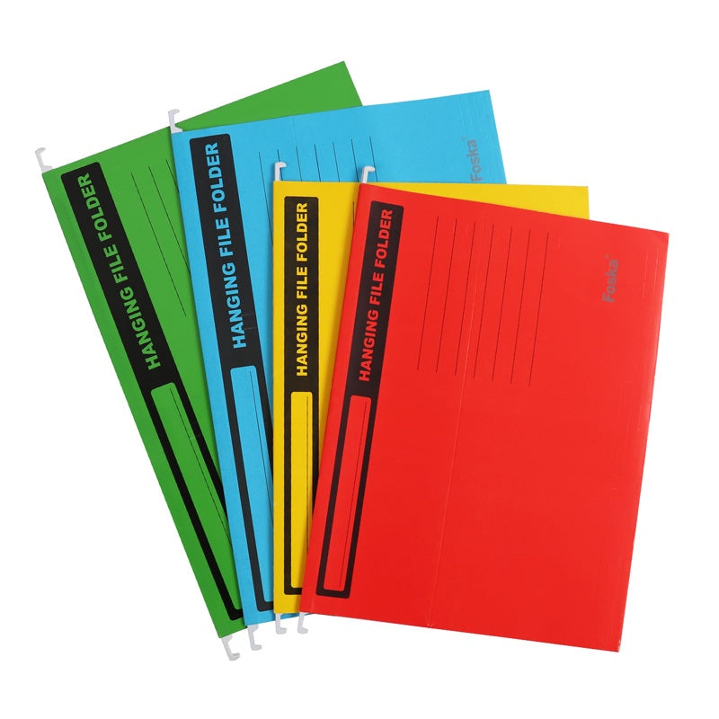 Pack of 10 Yellow A4 Suspension Files Folder