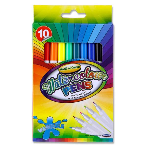 World of Colour Box of 10 Watercolour Markers