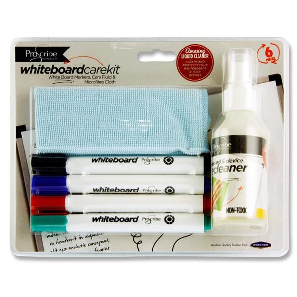 Pack of 6 Piece Whiteboard Care Kit by Pro:scribe