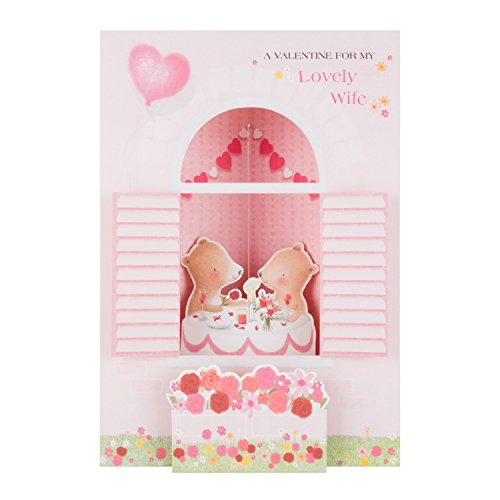 Wife Pop Out Hallmark Valentine's Day Card 'Pop Up Novelty' - New Large