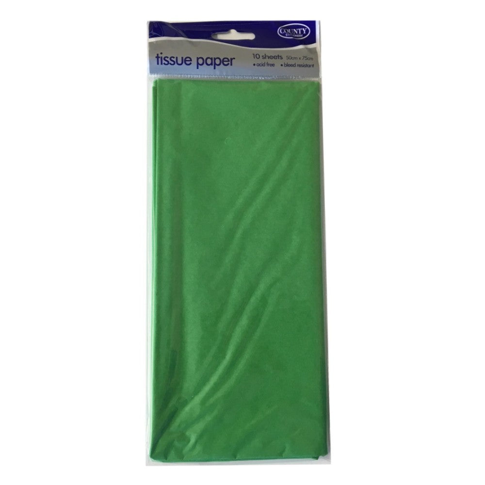 Acid Free Light Green Tissue Paper 10 Sheets