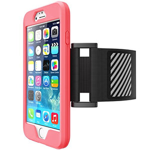Funda deportiva para iPhone 6 Plus y 6s Plus rosa