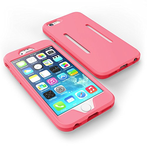 Funda deportiva para iPhone 6 y 6s color rosa y resistente