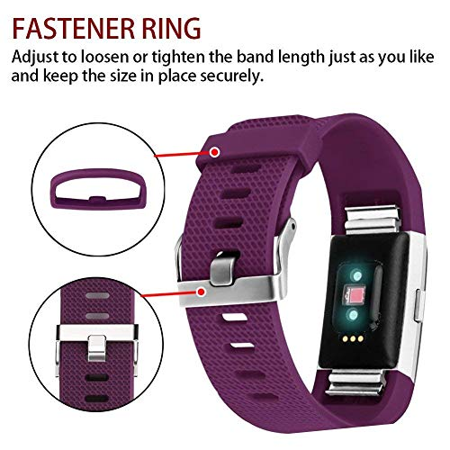 Correa para Fitbit Charge 2 Color Morado ajustable