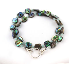 Abalone Mint Eyeglass Necklace