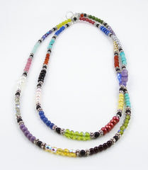 Color Block Long Necklace or Bracelet