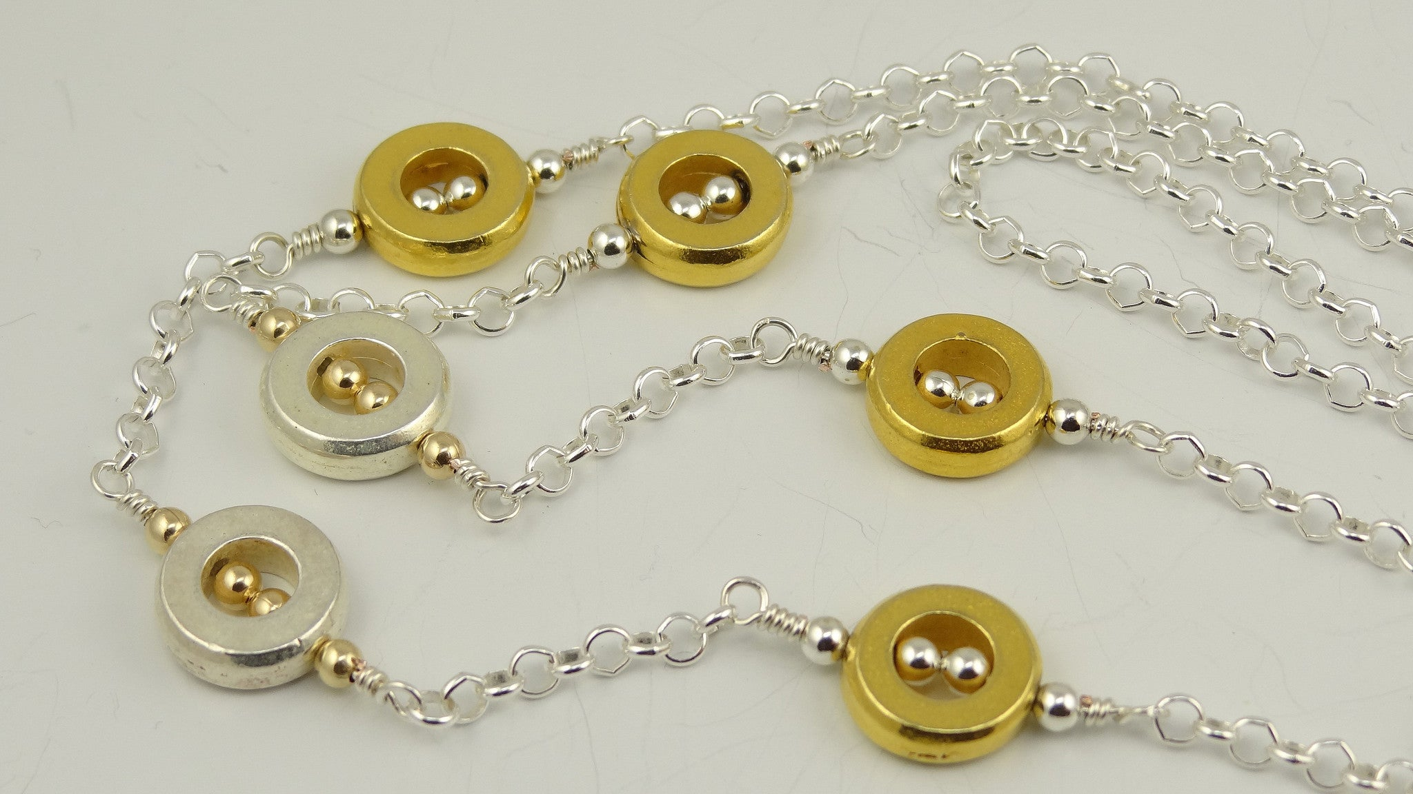 Custom, One-of-a-Kind Mixed Metal Eyeglass Chain