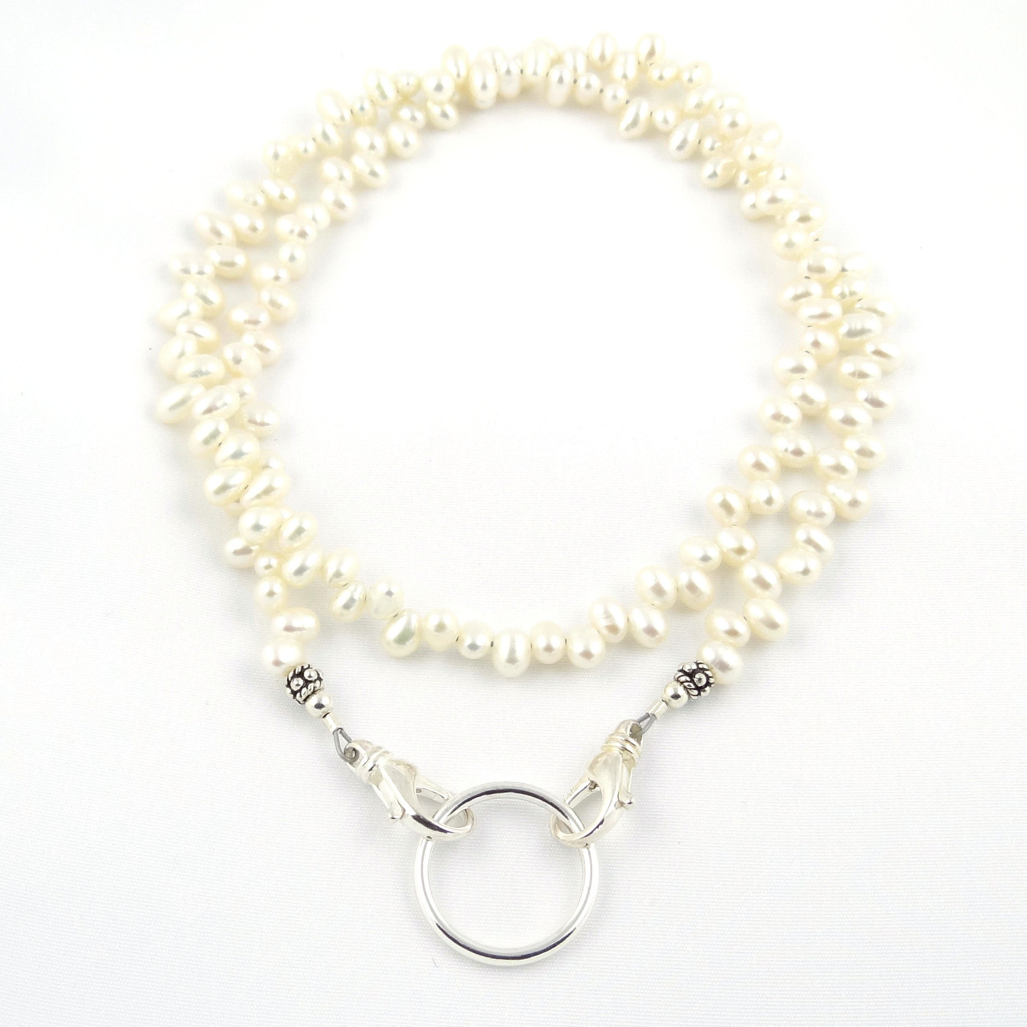 Dancing White Freshwater Pearl Eyeglass Necklace