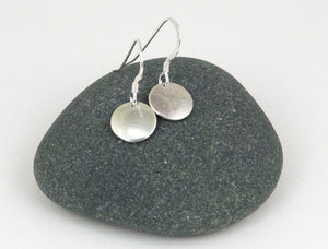 Sterling Silver Simple Mini Disk Earrings