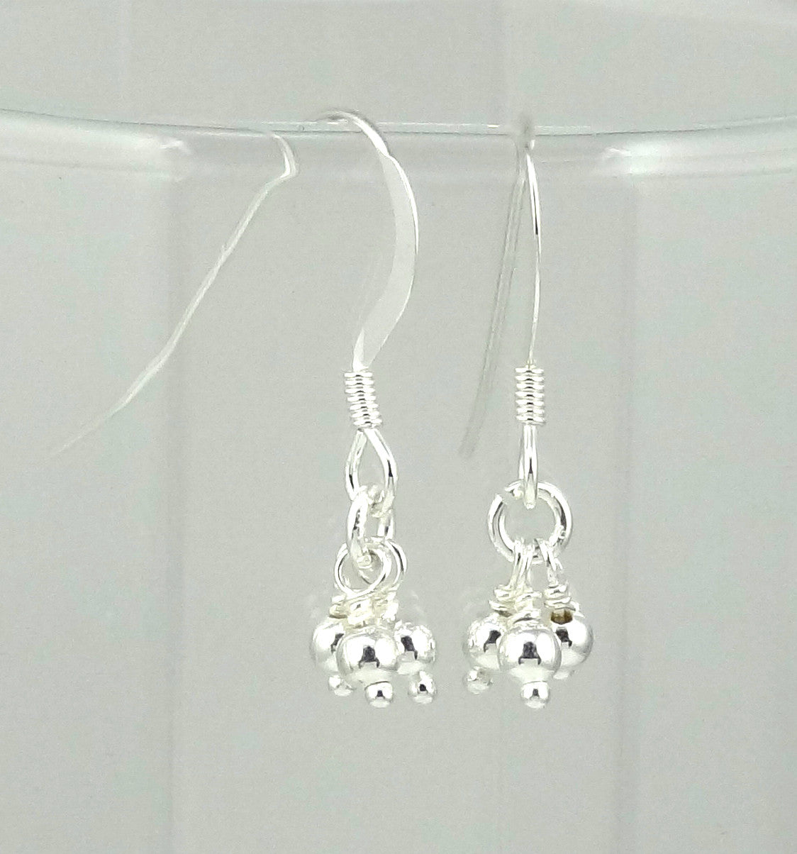 Sterling Silver Simple Tiny Drops Earrings
