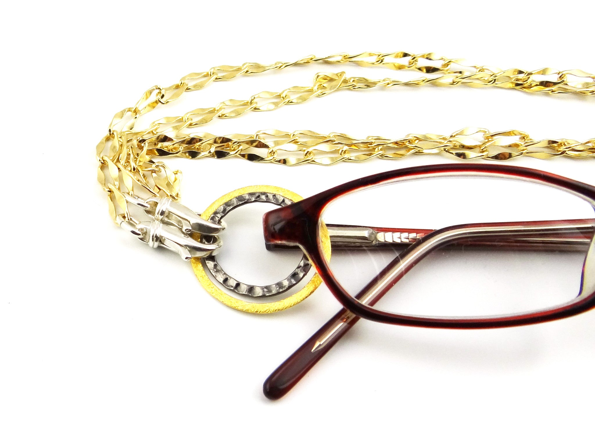Mixed Metal - Gold, Silver, & Steel Eyeglass Necklace
