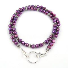 Magenta Freshwater Pearl Eyeglass Necklace
