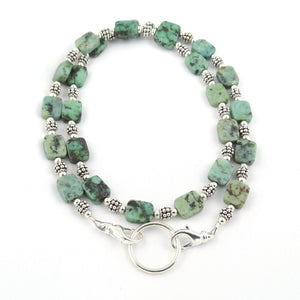 Green Turquoise Tiles Eyeglass Necklace