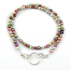 Melonberry Freshwater Pearl Eyeglass Necklace