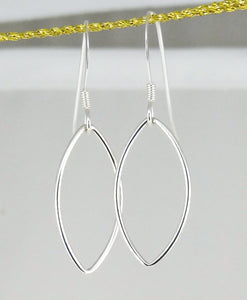 Sterling Silver Open Marquise-Shaped Earrings