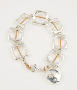Rawhide Leather & Sterling Silver Bracelet