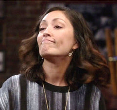 Geometric Pewter & Gold Earrings as worn by Kiki character (played by Christina Change) on Rizzoli & Isles