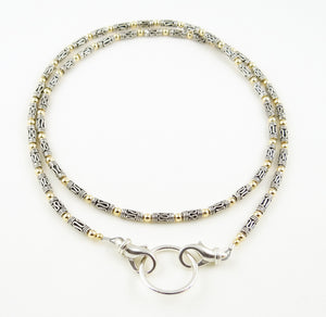 Sterling Silver Small Scrolls Eyeglass Necklace