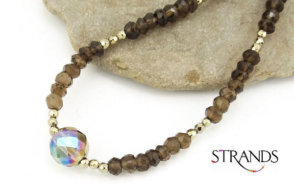 As Seen on The Vampire Diaries Smokey Quartz Necklace