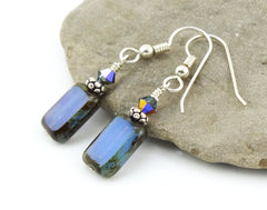 Czech Glass Windowpane Earrings