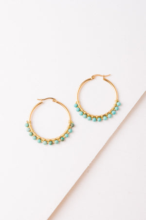 Barrett Turquoise Hoop Earrings