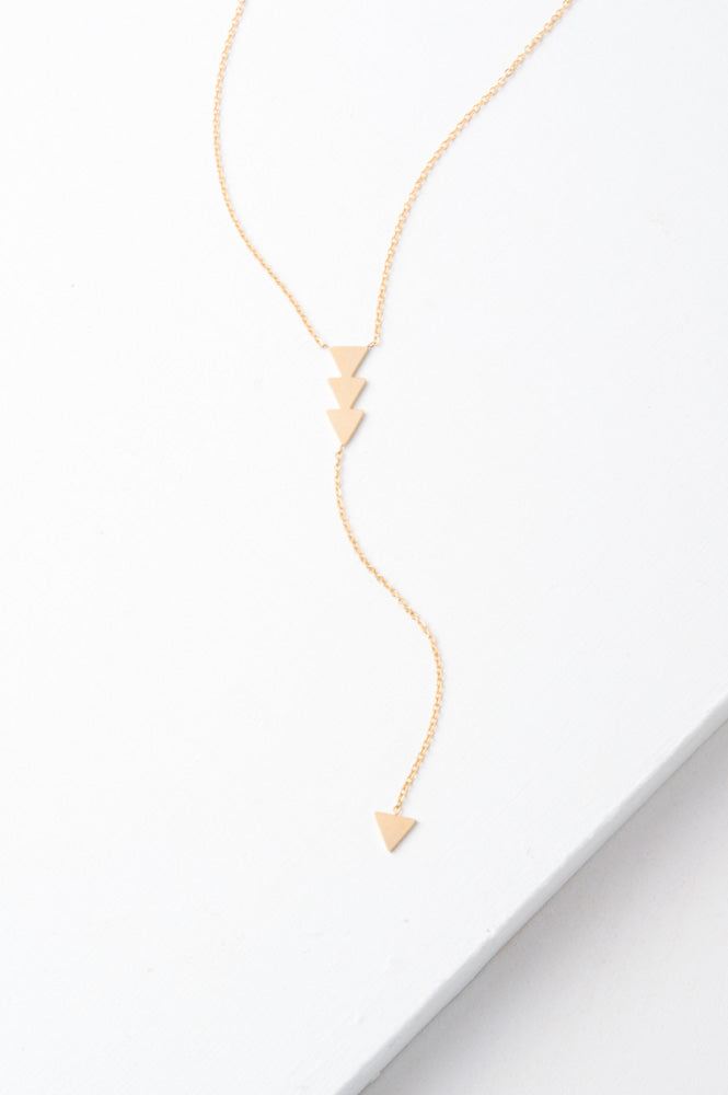 Marina Gold Arrow Drop Necklace