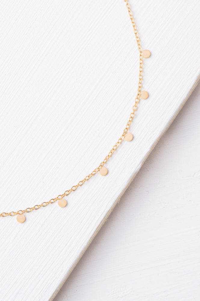Evelyn Gold Drop Necklace
