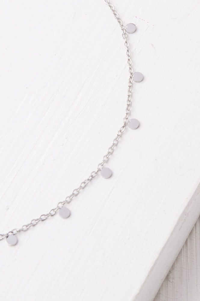 Evelyn Silver Drop Necklace