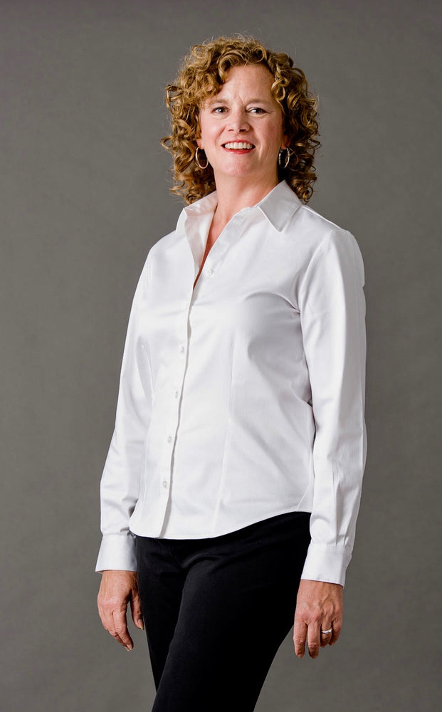 Classic Fitted Stretch Blouse