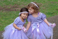 Baby & girl lilac fluffy bow fairy tutu skirt