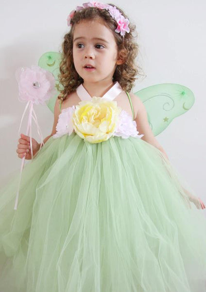 Baby & Girl Tinkerbell Fairy Tutu Dress