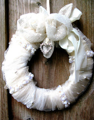 Padded vintage wreath
