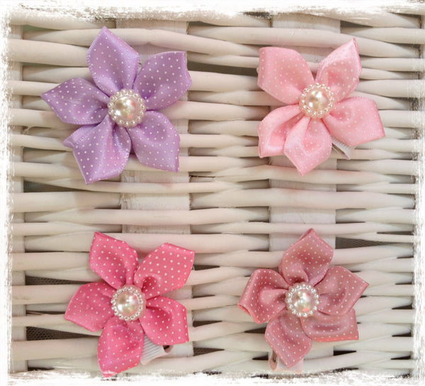 Baby & Girl Flower Non-slip Satin Hair Clip - Clip96