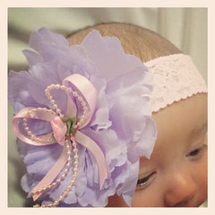 baby, girl, lady lilac and pink christening flower girl bridal fascinator peonie flower headband FLHD31