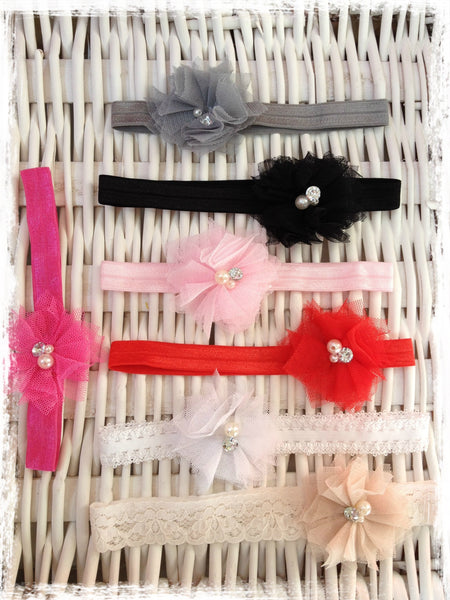 Baby & girl flower headband. BRGN15