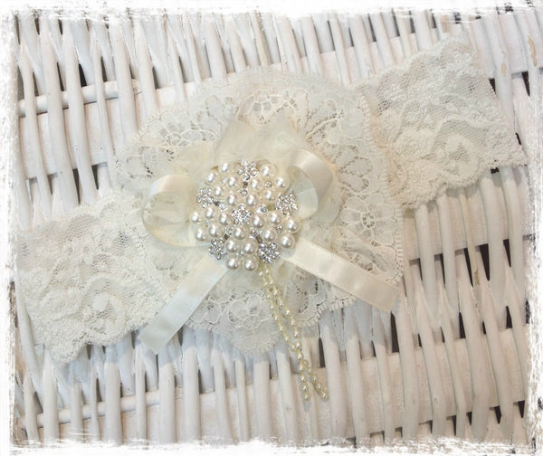 Baby, girl, lady ivory or white christening flower girl bridal fascinator flower headband FLHD54