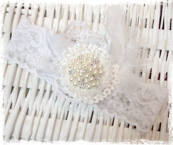Baby, girl, lady white or ivory christening flower girl bridal fascinator flower headband FLHD58