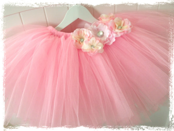 Baby & Girl Fluffy Floral Fairy Tutu Skirt