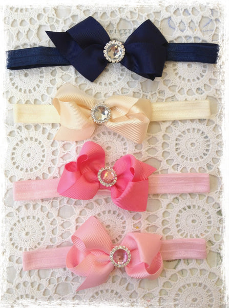 Baby & Girl Bow Headband. BRGN24