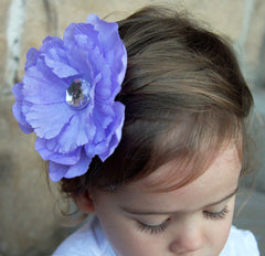 Baby & girl white, ivory, baby pink, lilac, black, red, purple, hot pink rose on hair clip christening flower girl. clip53