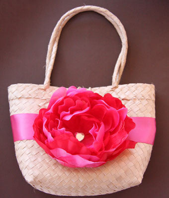 hot pink peonie flower bag. Bag02
