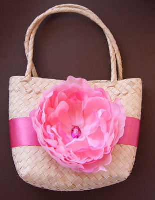 baby pink peonie flower bag