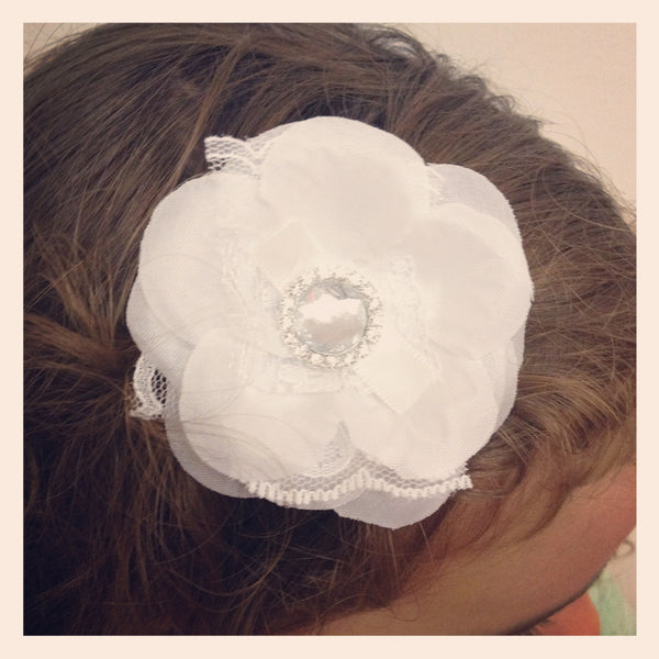 Baby & Girl Rose Fascinator Hair Clip - Clip22