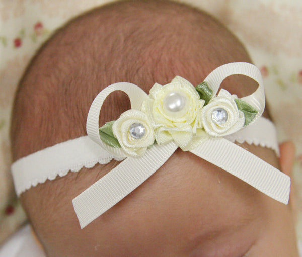 Baby, girl, lady white, ivory or pink vintage christening flower girl bridal fascinator lace flower headband  FLHD39
