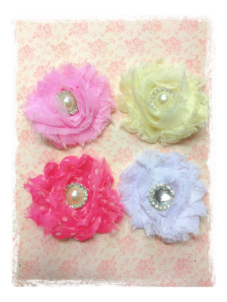 Baby & girl white ivory or pink vintage flower hair clip christening flower girl.clip71