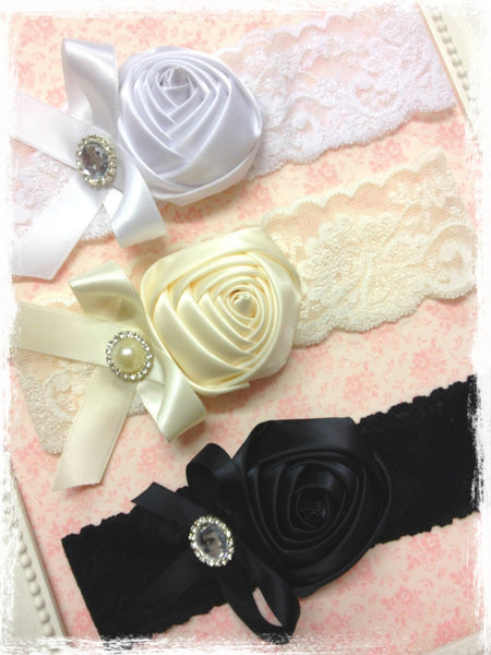 Baby, girl, lady white, ivory or black vintage christening flower girl bridal fascinator lace flower headband  FLHD40