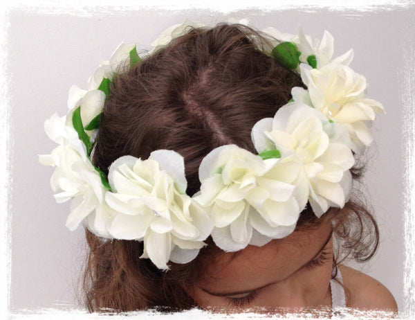 Toddler to Girls flower crown. Crown01