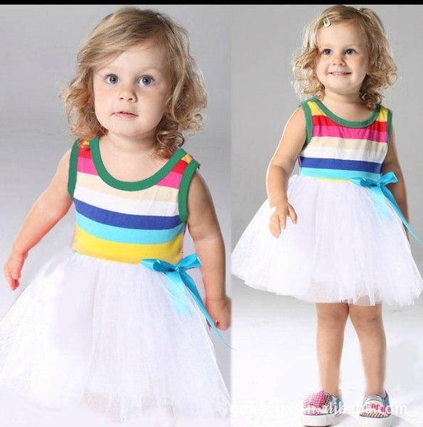 Little girl rainbow dress. Dress16