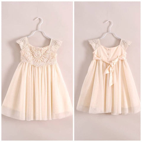 Cream vintage crochet dress