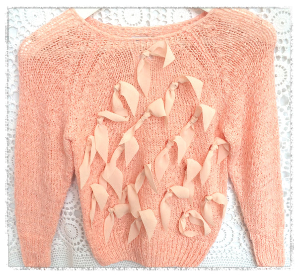 Peach pink girl jumper